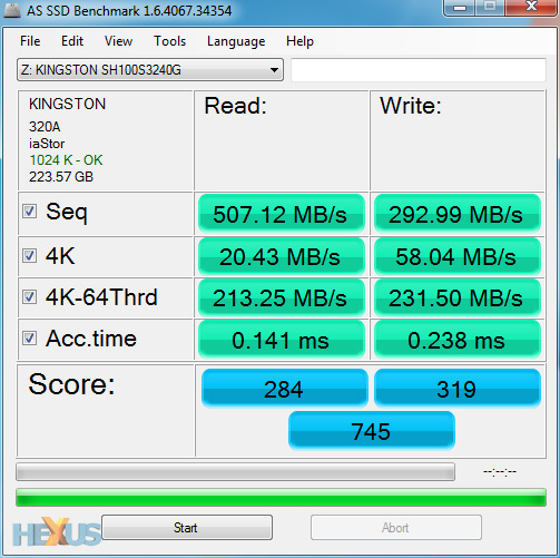Aug '11 AS SSD Benchmark Speed Test