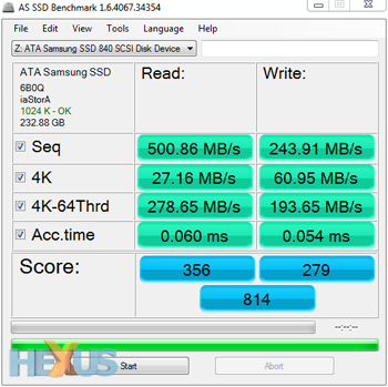 AS SSD Benchmark Speed Test
