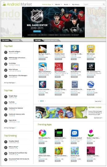 Android Market Navigation