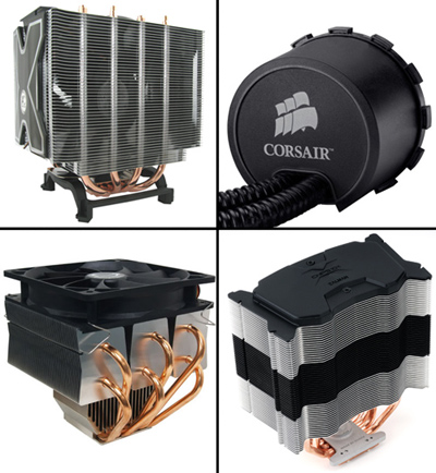 Review: LGA1156 cooler shootout: Arctic Cooling, Corsair