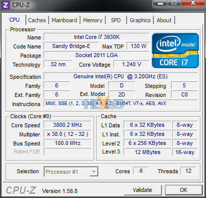 CPU-Z (Stock Clock)