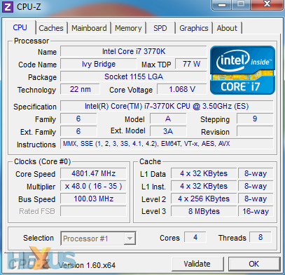 Intel Core I7 3770 Overclock
