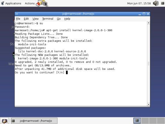 Installing a new kernel