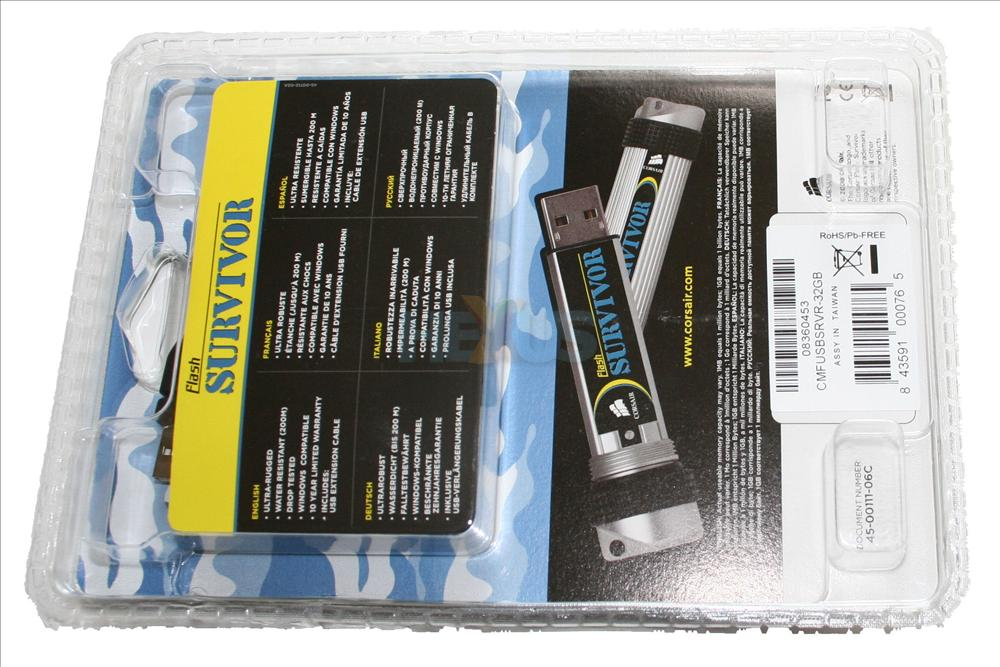 Corsair SURVIVOR 32GB USB pendrive review and execution