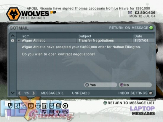 LMA Manager 2006 - XBox 360 and PC - Xbox 360 - Feature