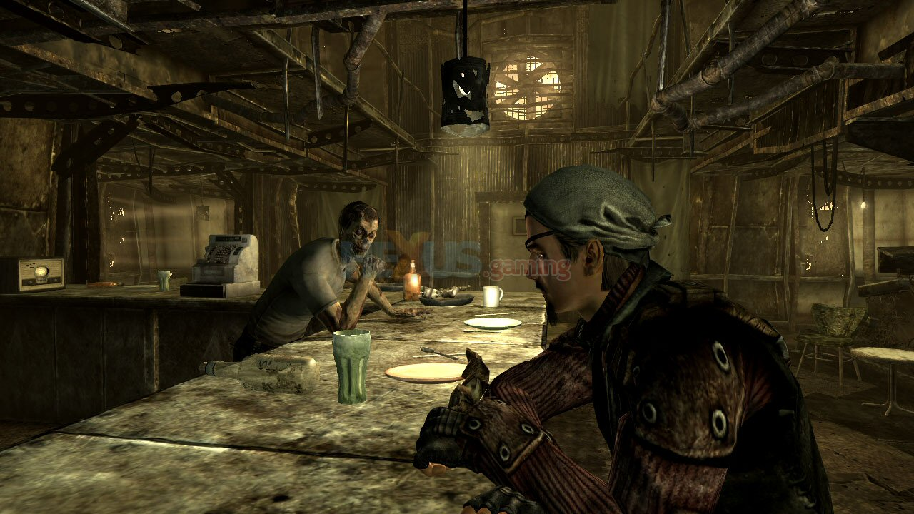 how to turn on flashlight in fallout 3 ps3