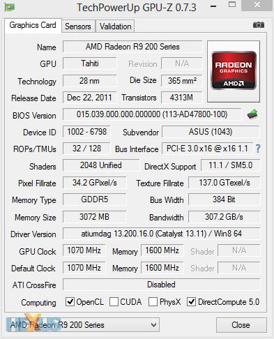 Review: Asus Radeon R9 280X DirectCU II TOP - Graphics