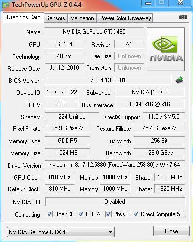 KFA2 GeForce GTX 460 1GB LTD OC graphics card review