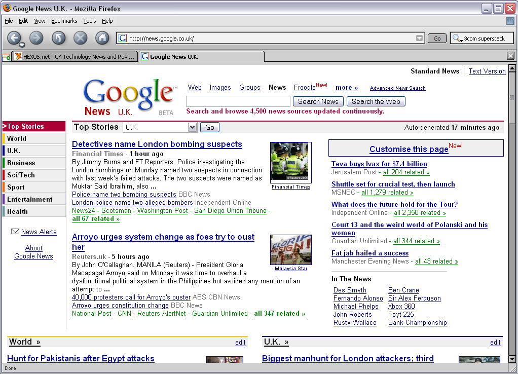Customising google news software tech explained for Goodl