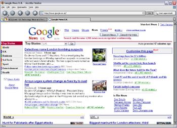 Google News Default View