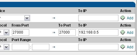 Specify IP address