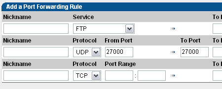 Specify the port