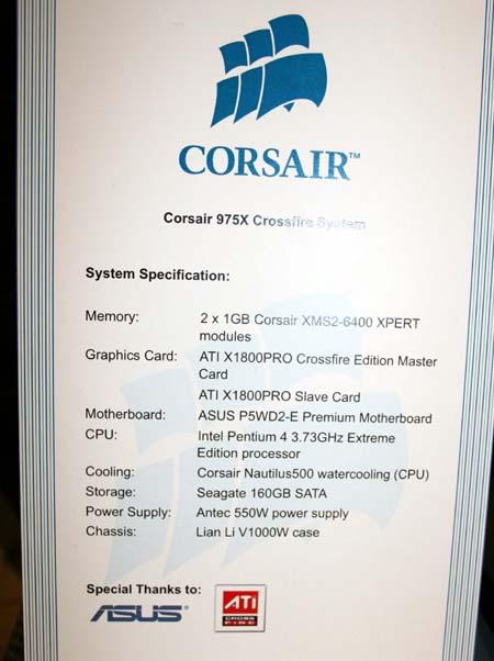 System spec sheet