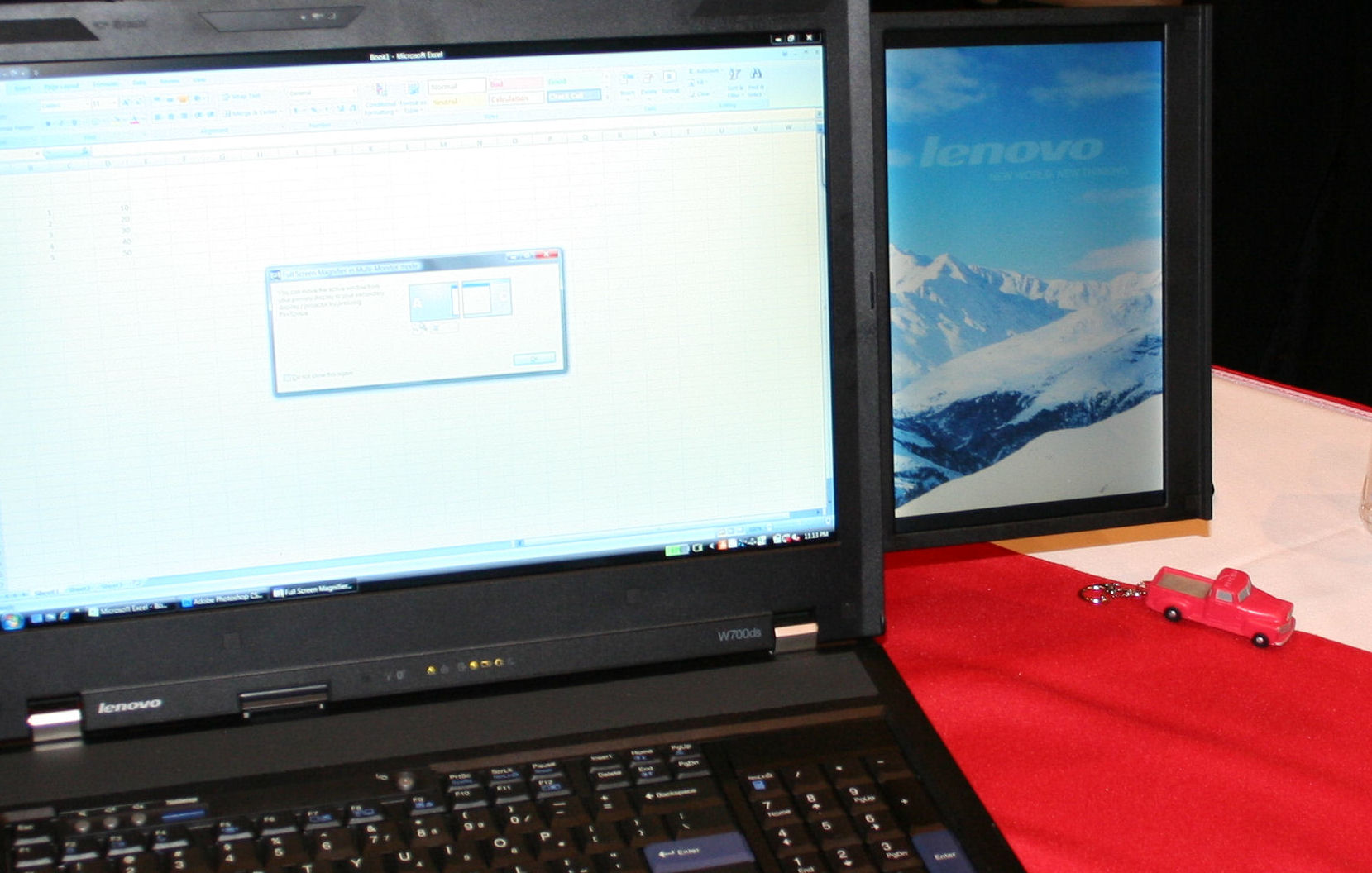Lenovo's $5,000 workstation notebook has two screens