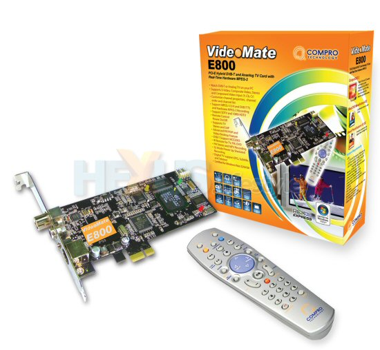 VideoMate E800 Hybrid DVB T And Analog PCI E TV Tuner Card