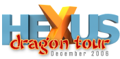 HEXUS Dragon Tour 2006 logo