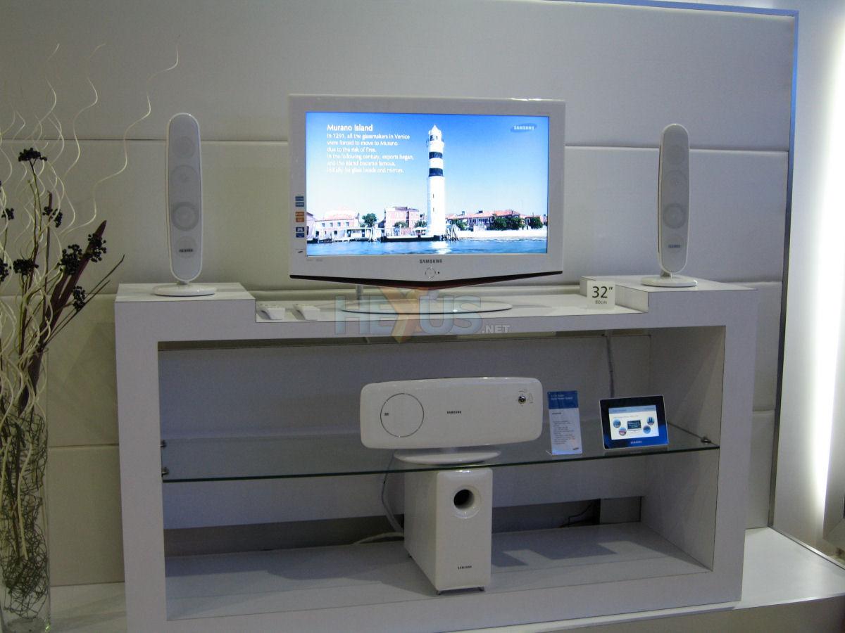 samsung tv white. gitex 2006 samsung tv white