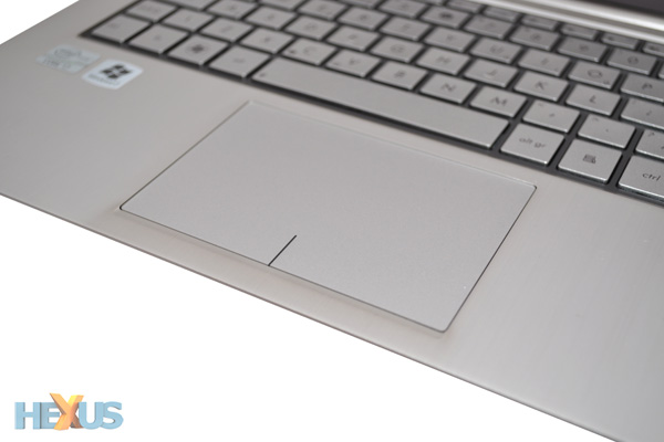 As for the trackpad, it's nice and big, with a smooth top surface that