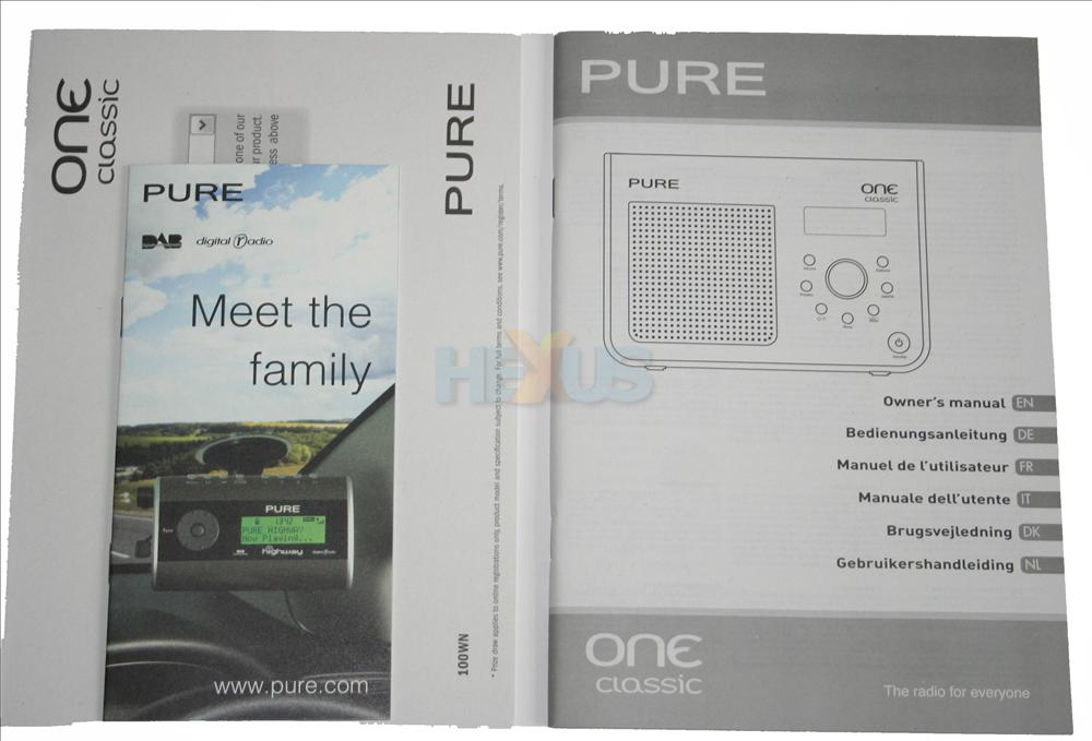 pure one classic dab radio instructions