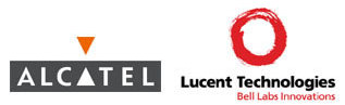 Alcatel and Lucent logos