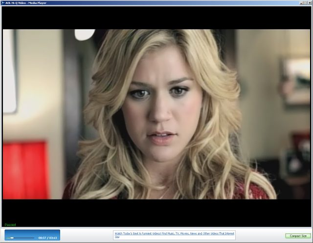 AOL Kelly Clarkson music video