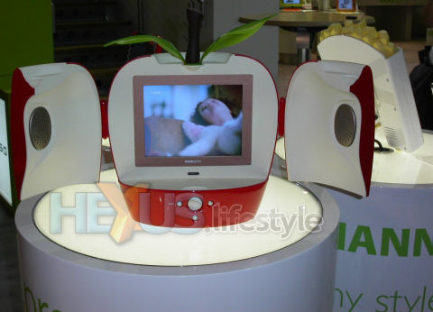 HANNspree HANNSa.red apple TV set - open