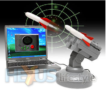 USB Missile Launcher - front with controller app