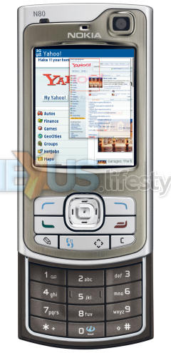 Nokia N80 Internet Edition - with browser zoom window