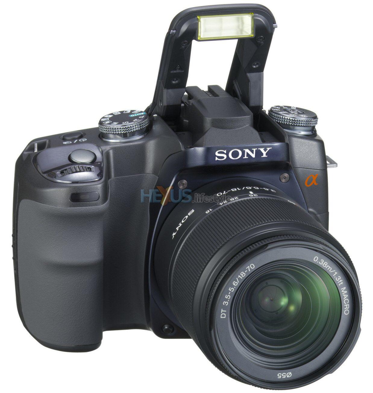Camera Dslr Slr Camera sony details its july arriving first digital slr camera cameras dslr a100 with flash up