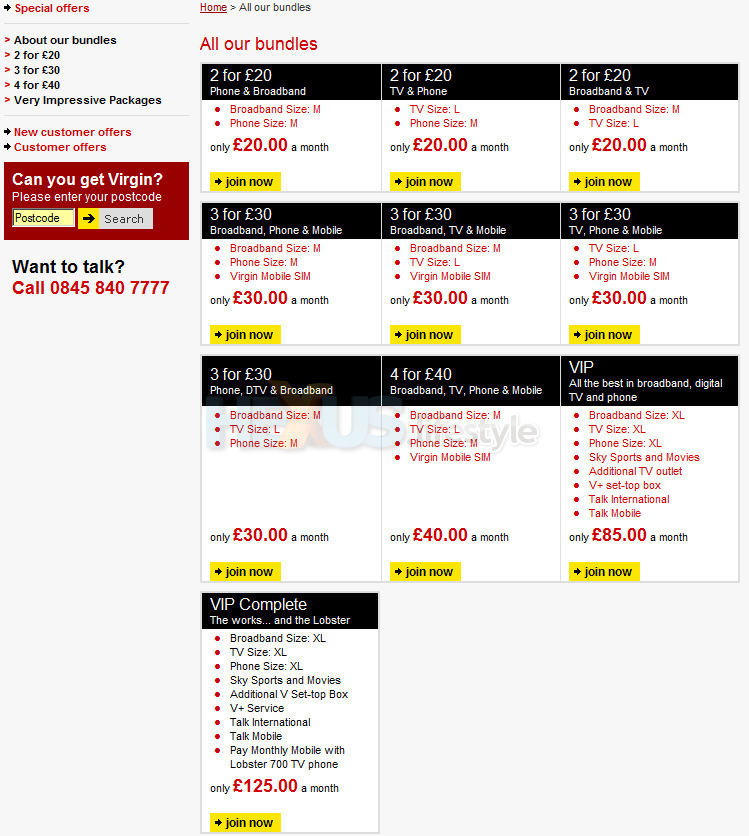 Virgin Media Multi Play Offers Services By Cable And Phone Communications News Hexus Net Page 2