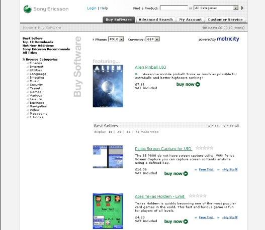 SonyEricsson Application Shop