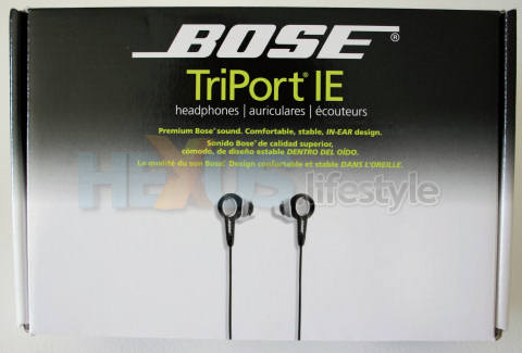 Bose TriPort IE retail box