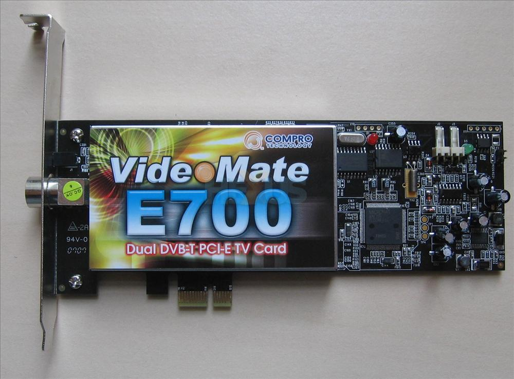 Review: Compro VideoMate E700 - say hi to a PCIe DVB-T tuner ...
