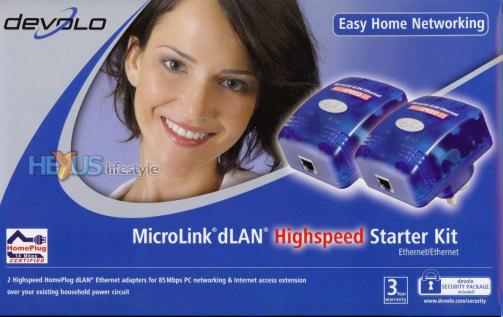 devolo MicroLink dLAN HighSpeed Starter kit - box front