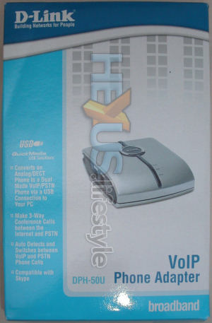 D-Link DPH-50U Skype USB adaptor - retail box front