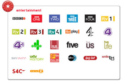 Freeview - just some of the channels