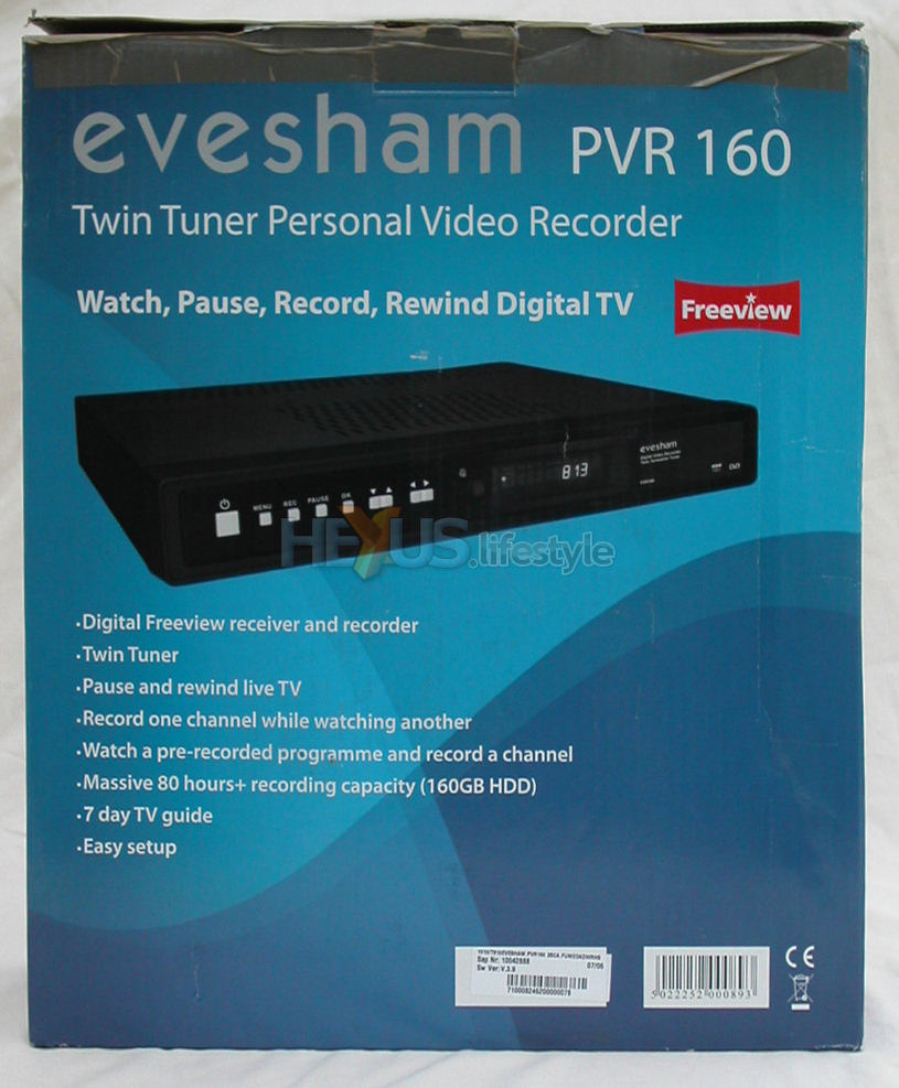 Review: Evesham Freeview personal video recorder PVR160 - Audio ...
