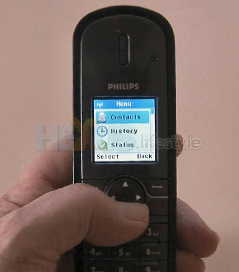 Philips VOIP841 - menu, contacts highlighted