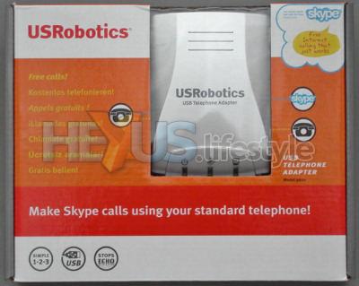 USRobotics 9620 USB Telephone Adapter - box front