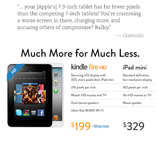 Amazon iPad Mini Ad