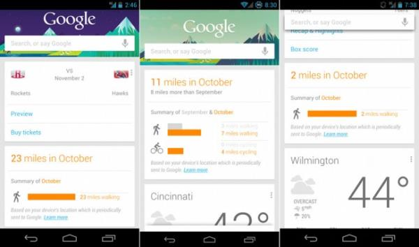 Google Now Pedometer