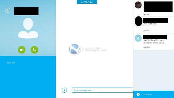 Skype for Windows 8 Modern UI