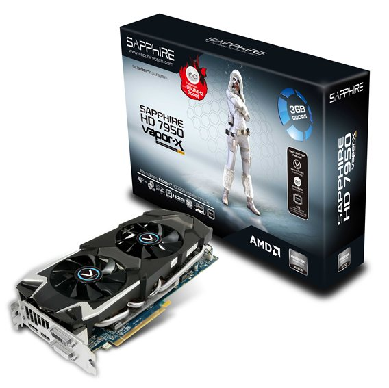 SAPPHIRE HD 7950 3GB OC with Boost Vapor-X Edition
