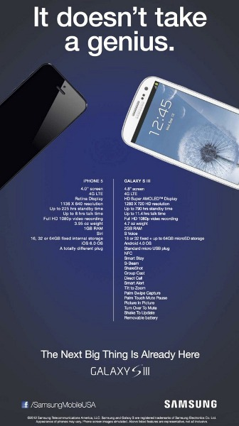 Samsung US Galaxy S III Advertissement