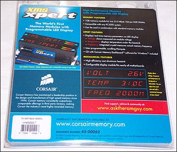 Corsair CMXP512-3200XL box rear