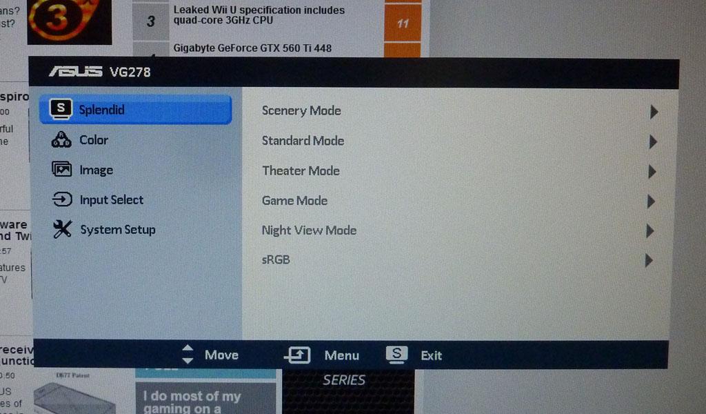 Review: ASUS VG278H 3D Vision 2 monitor - Monitors - HEXUS