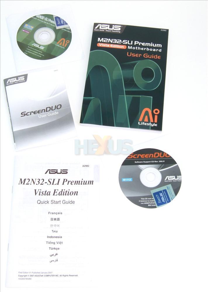Мат плата socketam2 asus m2n32-sli premium vista edition (nforce590 sli, 4xddr2, u133, sata ii-raid, 2xpci-e