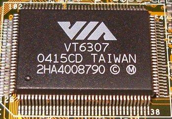 Via vt6307 chipset