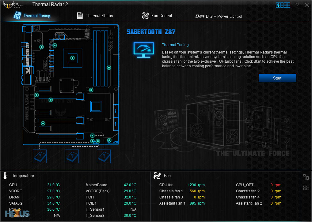 Asus Thermal Sensor : Review asus sabertooth z haswell mainboard hexus