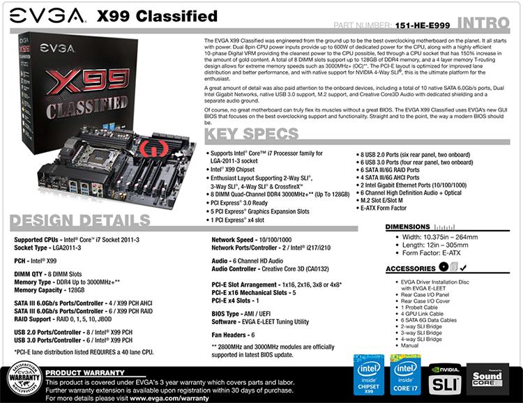 EVGA X99 MICRO 131-HE-E995-KR BIOS CHIP